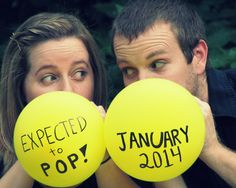 fun way to announce your pregnancy! it would he cute if one were blue and the other was pink