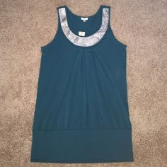 Studio Y Maurices Green Silver Long Top New with tags. ✨Price is Firm unless is Bundle! Save $$$ when bundling with other items. NO TRADE Studio Y Tops Blouses
