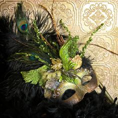 Hand made Mardi gras mask by KRea11 on Etsy, $149.95