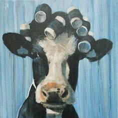 Diy Oil Painting, Adult's Paint by Number Kits, Acrylic Painting,Curly Inch Cow Painting, Painting & Drawing, Cow Drawing, Arte Indie, Indie Art, Cow Pictures, Cow Art, Animal Paintings, Dark Art Paintings