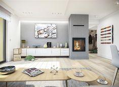 Projekt domu Tracja 3 117,19 m2 - koszt budowy 255 tys. zł - EXTRADOM Gallery Wall, Home Decor, Little Cottages, Decoration Home, Room Decor, Home Interior Design, Home Decoration, Interior Design