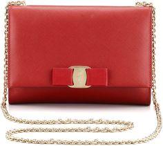 Salvatore Ferragamo Miss Vara Mini Flap-Top Crossbody Bag, Red on shopstyle.com