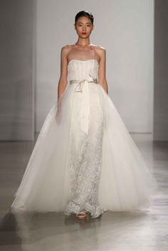 """""""Linden"""" by Amsale Article: Discover Classic, Chic Bridal Gowns by Amsale Fall 2016 Photography: Courtesy of Amsale Read More: http://www.insideweddings.com/news/fashion/discover-classic-chic-bridal-gowns-by-amsale-fall-2016/2522/"""