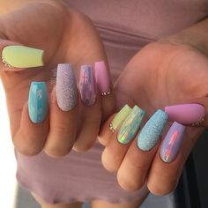 Here are the best Easter Acrylic Nails for Browse through these Easter nail designs and make your stylish Easter nails spread charm & elegance. Best Acrylic Nails, Acrylic Nail Art, Acrylic Nail Designs, Nail Art Designs, Easter Nail Designs, Nails Design, Acrylic Spring Nails, Pastel Designs, Acrylic Tips