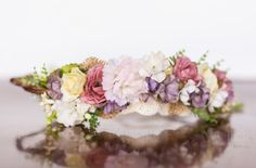Flower Crown in Muted Shades of Spring by LittleLadyAccessory