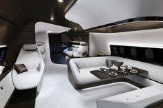 Flugzeugkabine von Mercedes: S-Klasse über den Wolken - GQ