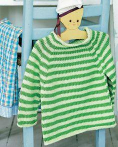 Denne skønne stribede barnesweater er da ikke til at stå for.