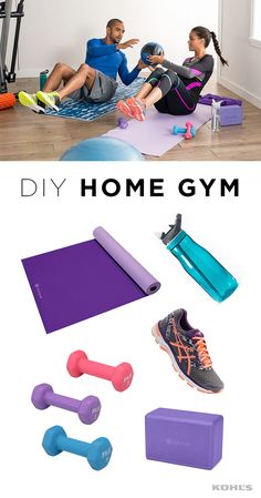 Fit people's secret to never missing a winter workout? Having a backup plan, like a home gym for when it's too cold to leave the house. Featured product includes: ASICS GEL Excite 4 women's running shoes; Contigo Autospout 32-oz. water bottle; FILA 2-pound, 3-pound and 5-pound neoprene hand weights; and Gaiam 4-in. foam yoga block and 5mm reversible yoga mat. Get healthy in 2017 with Kohl's.