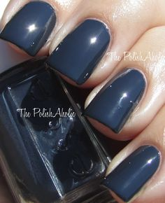 This is a beautiful dark blue, but I love how it kind of looks like it's a shade somewhere between grey and black.