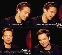 Sebastian Stan interview --- ahaha I would be doing the same thing