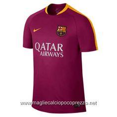 Nuova maglie calcio 2016 per maglia Pre partita Barcellona 2017 rojo