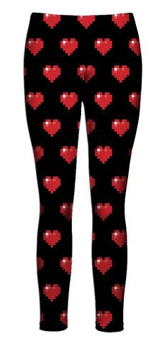 Pixel Hearts Leggings from Beloved Shirts