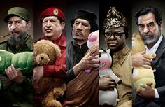 Photoshopped Portraits by Chunlong Sun Paint a Creepy and Cuddly Picture of Infamous World Leaders