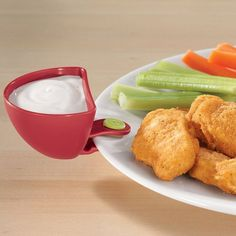 Plate Dip Clips! YUM, keep the dip from running over all of your food!
