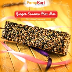 When you want health with yummy taste. Order this flax bar here at http://www.fomokart.com/bakery-and-c…/ginger-sesame-flax-bar