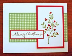 Simple Christmas by peebsmama - Cards and Paper Crafts at Splitcoaststampers