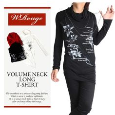 CDJapan : Voluminous Neck Long T-Shirt (S) WR14AB103-B JURY BLACK APPAREL. See more at: http://www.cdjapan.co.jp/apparel/ #punk #jrock #mensfashion