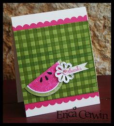create gingham using your ink pad and the Stripes Embossing Folder