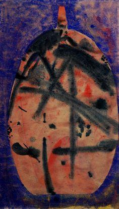 Lubomir Blecha, design for glass object, watercolour on paper, M: x cm First Contact, Fascinator, Watercolour, Glass Art, Africa, Tropical, Bohemian, Paper, Artist