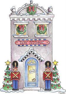 Christmas House Drawings Printable-Stock and drawings to print