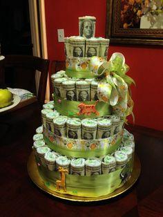 Money diaper cake by Rany Fischer!