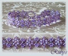 StarBracelet - free tut.  Similar to a daisy chain bracelet. #seed #bead #tutorial #bracelet