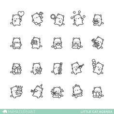 Mama Elephant Clear Stamp LITTLE CAT AGENDA Preview Image
