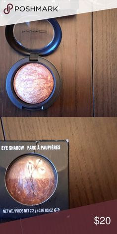 New in box MAC cosmetics Eye Shadow, Mercurial New in box MAC Cosmetics Eye Shadow Single, Mercurial. This shadow is a bronze rose gold color. This is a mixed color Eyeshadow with shades of purple, brown, copper, rose gold, metallic. MAC Cosmetics Makeup Eyeshadow