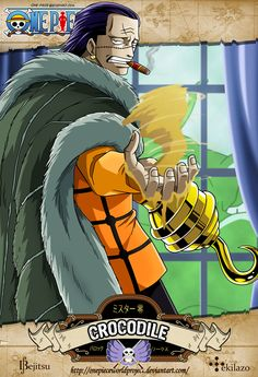 One Piece - Crocodile by OnePieceWorldProject on DeviantArt - Gekiga Manga Anime One Piece, Arlong One Piece, One Piece Drawing, One Piece World, 0ne Piece, One Piece Luffy, Manga Anime, Sir Crocodile, Best Anime Shows