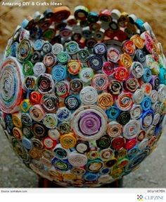 Amazing DIY & Crafts Ideas-wrap a balloon with any type of colorful paper or buttons or something and pop when done...how cool?