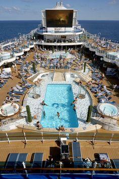 Pool Deck and Movies Under the Stars, Royal Princess – Top 10 Best Royal Princess Features   Popular Cruising (Image Copyright © Jason Leppert)