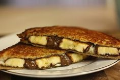 grilled banana and nutella sandwich - yes please!