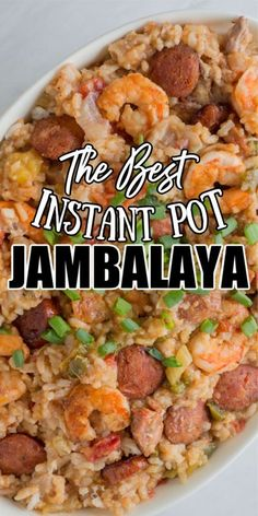 Shrimp Jambalaya Recipe Easy, Jambalaya Recipe Instant Pot, Chicken And Sausage Jambalaya, Instant Pot Pasta Recipe, Chicken And Shrimp Recipes, Instant Pot Dinner Recipes, Jumbalaya Recipe, Pressure Cooker Recipes, Slow Cooker
