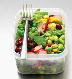 Forget rabbit food – nutritionist Kate Skerritt serves up a low-fat salad with a high-protein punch to power you through the toughest workout
