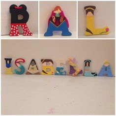 Disney Princess & Winnie the Pooh Character Letters. Hand painted to look like your favorite Disney Character or Princess. on Etsy, $5.00