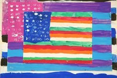 happy fourth of july - Jasper Johns Flag Paintings Jasper Johns, American Flag Art, American Symbols, Let's Make Art, 6th Grade Art, Third Grade, Flag Painting, Arts Ed, Scrapbook