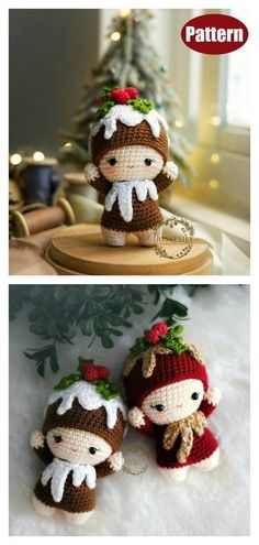 Adorable Christmas Doll Free Crochet Pattern and Paid - Stricken ist so einfach . Adorable Christmas Doll Free Crochet Pattern and Paid – Stricken ist so einfach wie 3 Das S Crochet Patterns Amigurumi, Amigurumi Doll, Crochet Stitches, Cute Crochet, Crochet Crafts, Crochet Baby, Easy Crochet, Crochet Deer, Crochet Animals