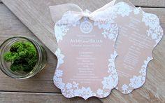 Spitze Hochzeitseinladungen drucken DIY Hochzeitseinladungen mit Spitzen und Bändern