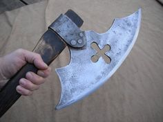 Huge hand forged battle axe