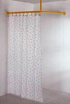barre rideau de douche d 39 angle galbobain pour bac de douche carr 100x100 galbobain et les. Black Bedroom Furniture Sets. Home Design Ideas