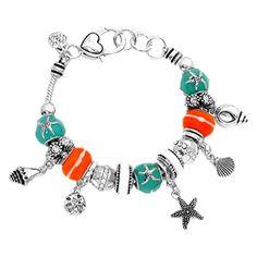 Sea Life Charm Bracelet BV Coral Blue Murano Glass Beads Silver Tone Recyclebabe Bracelets http://www.amazon.com/dp/B019DEMZ8I/ref=cm_sw_r_pi_dp_QRhCwb0BV1M39