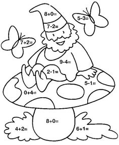 images of mushrooms coloring pages Fun Worksheets, School Worksheets, Math Addition, Addition And Subtraction, Love Math, Fun Math, Math Resources, Preschool Activities, Coloring Books
