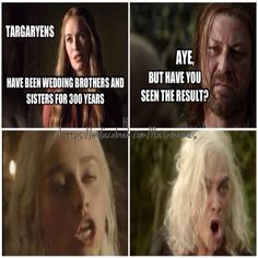 Game of Thrones funny memes I don't really agree with Danys but I do with Vasyrs what a bitch