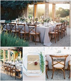 outdoor rustic wedding reception via www.frenchweddingstyle.com #wedding