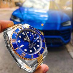 Nothing beats a Rolex 🌩 Rolex Watches For Men, Luxury Watches For Men, Cool Watches, Dream Watches, Men's Watches, Rolex Submariner Blue, Rolex Datejust, Rolex Daytona Ceramic, Lamborghini