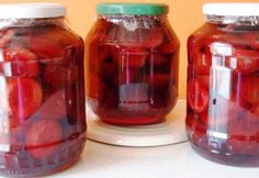 Szilva befőzve Jar, Canning, Home Canning, Jars, Glass, Conservation