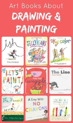 16 Art Picture Books About Drawing and Painting~Click through for the full list and summaries of each book. 16 Art Picture Books About Drawing and Painting~Click through for the full list and summaries of each book. Art Books For Kids, Art For Kids, Art Children, Drawing Books For Kids, Kids Fun, Children Reading, Preschool Books, Kindergarten Art, 230