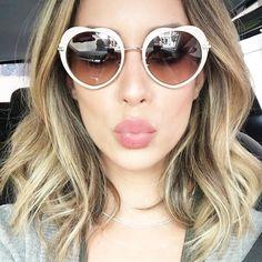 certeza que foi esse emoji que inspirou esse óculos né? Miu Miu para @oticasriopreto  meu novo queridinho!