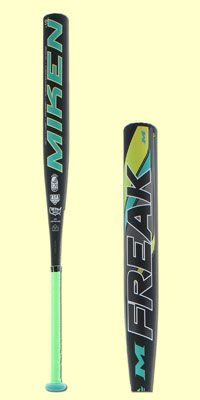2016 Miken Freak Fastpitch Softball Bat: FPFK10. The FREAK is back! Miken's FPFK10 Fast Pitch bat is here to help you dominate the game. A full 100% composite, one-piece designed bat, players looking for hitting consistency and to maximize bat control will find it in this balanced bat.