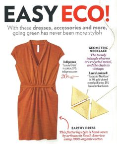 INDIGENOUS organic cotton Luxury Dress featured in Eco Fashion spread